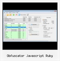 Perl Javascript Compress obfuscator javascript ruby