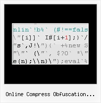 Javascript Compress Obfuscator C Open Source online compress obfuscation minify js
