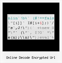 Javascript Obfuscation Unicode online decode encrypted url
