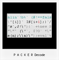 Javascript Obfuscator Online p a c k e r decode