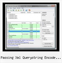 Yui Compress Option passing xml querystring encode jquery