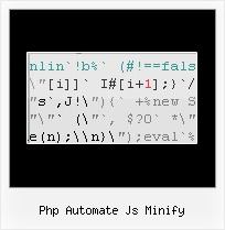 Javascript Obfuscator Online php automate js minify