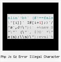 Cssmin Php php js gz error illegal character