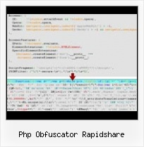 Js Packer Decode php obfuscator rapidshare