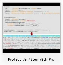 Yui Compressor Exe protect js files with php