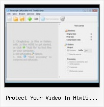 Javascript Obfuscate Ant protect your video in html5 encrypt javascript