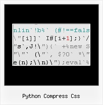 Javascript Compression Opensource python compress css