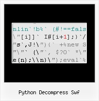 Jscript Packing python decompress swf