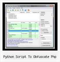 Javascript Encode Uri python script to obfuscate php