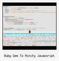 Javascript Obfuscate Email ruby gem to minify javascript