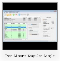 Eclipse Plugin For Yui than closure compiler google