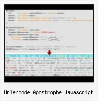 Illegal Xml Characters Js File urlencode apostrophe javascript