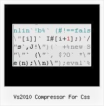 Js Encode Emial vs2010 compressor for css