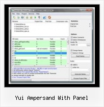 Javascript Obfuscator Obfuscation yui ampersand with panel