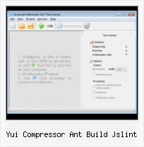 Javascript Obfuscator Open Source yui compressor ant build jslint