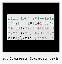 Javascript Obfuscator Encoder yui compressor comparison jsmin