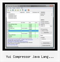 Obfuscate Html yui compressor java lang runtimeexception