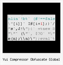 Javascript Email Obfuscator yui compressor obfuscate global