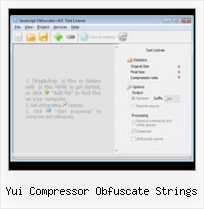 Dean Edwards Packer Reenable yui compressor obfuscate strings