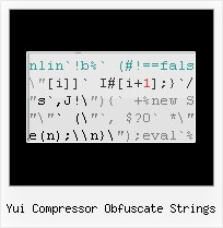 Javascript Compress Data yui compressor obfuscate strings