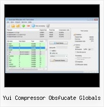 Javascript Obfuscator Slows yui compressor obsfucate globals