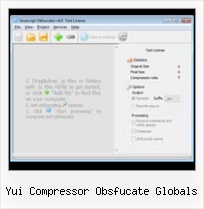 Javascript String Obfuscation yui compressor obsfucate globals