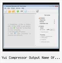 In Javascript You Can Use The Encodeuri Function yui compressor output name of file that failed