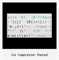 Jsmin Php yui compressor packed