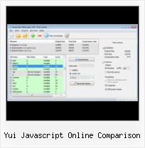 Yui Combine Compress yui javascript online comparison