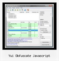 Online Javascript String Obfuscation yui obfuscate javascript