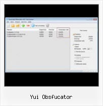 Compress Json Code yui obsfucator